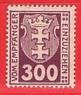 MiNr.17 Xx   Deutschland Freie Stadt Danzig Portomarken - Danzig