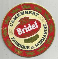 étiquette Fromage , Dessus De Boite , Camembert BRIDEL , Depuis 1846 ,médailles - Cheese