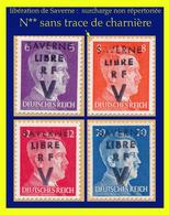 LIBÉRATION DE SAVERNE (SURCHARGE MANUELLE NON RÉPERTORIÉE) 1945 - EFFIGIE D'HITLER - N** SANS TRACE DE CHARNIÈRE - Liberazione