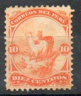 PERU' 1895 - Lama.  10c.  Usato - Scott. 111-A13 - Peru