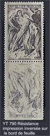 """FR Variétés YT 790 """" Résistance """" 1947 Impression Inversée Sur BDF - Variedades: 1945-49 Nuevos"""