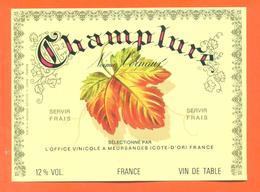 étiquette Vin De Table Rosé Champlure Noémie Vernaux à Meursanges -12°/° - Pink Wines