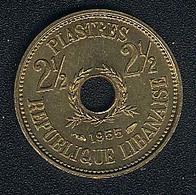 Libanon, 2 1/2 Piastres 1955, UNC - Lebanon