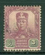 Malaya - Johore: 1910/19   Sultan Ibrahim    SG80    3c    Used - Johore