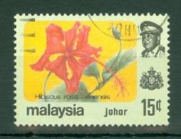 Malaya - Johore: 1979   Flowers    SG192   15c    Used - Johore