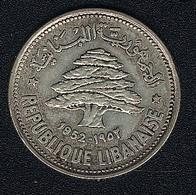 Libanon, 50 Piastres 1952, Silber - Lebanon