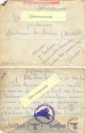 GUERRE 39-45 Rare COURRIER 1e Section Caserne Des Chasseurs Camp Des Prisonniers COLMAR HAUT-RHIN ALSACE Du 29-6-1940 - Marcophilie (Lettres)