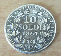 Etats Du Vatican - Monnaie 10 Soldi 1867 Pie IX En Argent - TTB +++ - Vatican