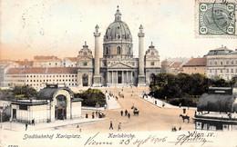 Autriche - Wien - Vienne - Stadtbahnhof Karlsplatz - Karlskirche 1906 - Wien Mitte