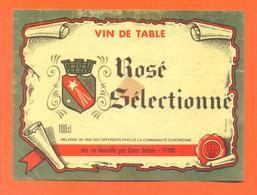 étiquette Ancienne Vin De Table Rosé Selectionné Caves Dubois à 55500 -13°/° - 100 Cl - Pink Wines