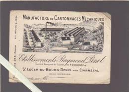 Manufacture De Cartonnages - Pinel - St Léger Du Bourg Denis - Par Darnetal - Cartoncini Da Visita