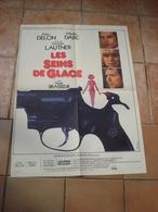 AFFICHE FILM LES SEINS DE GLACE ALAIN DELON GEORGE LAUTNER MIREILLE D ARC FT 42X53 - Affiches & Posters