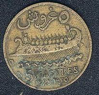 Libanon, 5 Piastres 1925, Both Mintmarks On Left Side - Lebanon