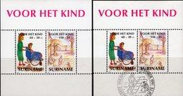 Im Rollstuhl Jugend-Set 1991 Surinam Block 56 **/o 9€ Kinder-Gemälde Hb Blocs Art Ss Painting Cover Sheets Bf Youth - Surinam