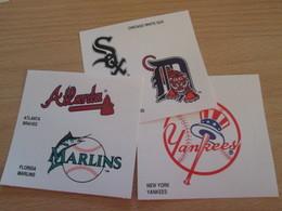LOT DE 3 AUTOCOLLANTS PUBLICITAIRES DE 1995 KELLOGG'S BASEBALL MAJOR LEAGUE - Stickers