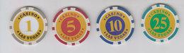 Casino Las Vegas Lot 4 Jetons - Autres Collections
