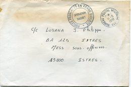 """ARABIE SAOUDITE LETTRE AVEC CACHET """"FORCES FRANCAISES EN ARABIE SAOUDITE OPERATION DAGUET"""" DEPART BUREAU POSTAL......... - Bahrain (1965-...)"""