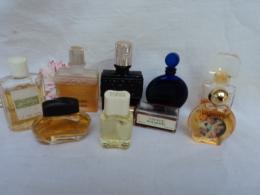 MOLINARD,CARVEN ,DESPREZ, WORTH, LAUDER....LOT 9 MINIS PLEINES    LIRE ET VOIR!! - Miniatures Modernes (à Partir De 1961)