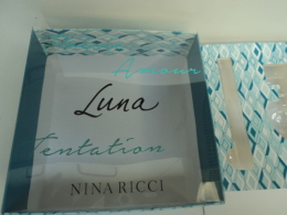"""NINA RICCI  """" LUNA"""" BOITE  VIDE ,AVEC OU SANS LA COQUE ,LIRE ET VOIR !! - Miniatures Modernes (à Partir De 1961)"""
