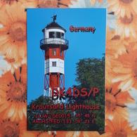 Germany, Krautsand Farol -  Lighthouse  - QSL - Lighthouses