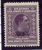 YUGOSLAVIA 1928 Cancelled Surcharge 20 D. MNH / **.  Michel 220 - Ungebraucht