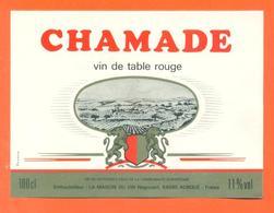 étiquette Vin De Table Rouge Chamade Maison Du Vin à Auboué -11°/° - 100cl - Red Wines