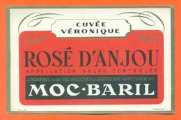 étiquette Ancienne Vin De Table Rosé D'anjou Cuvée Veronique J Besombes à Saint Florent - Pink Wines