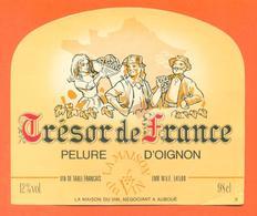 étiquette Vin De Table Pelure D'oignon Trésor De France à Auboué - 12 °/° - 98 Cl - Pink Wines