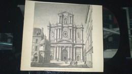 Affiche (gravure) - Eglise De Saint Louis Aujourd'hui Saint Paul Rue Saint Antoine à PARIS - Afiches