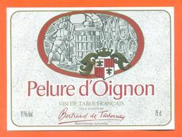 étiquette Vin De Table Pelure D'oignon Bertrand De Tavernay à Saint Gervais - 11 °/° - 75 Cl - Pink Wines
