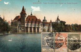 BUDAPEST- Burg Von Vajda Hunyad - Timbres Et Marcophilie Budapest Magyar Posta 1914 -  2 Scans - Hongrie