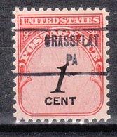 USA Precancel Vorausentwertung Preo, Locals Pennsylvania, Grassflat 853 - Vereinigte Staaten