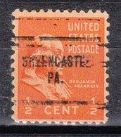 USA Precancel Vorausentwertung Preo, Locals Pennsylvania, Greencastle 704 - Vereinigte Staaten