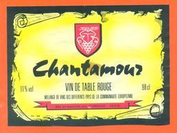 étiquette Ancienne Vin De Table Rouge Chatamour Sobraco à 52410 Eurville - 11 °/° - 98 Cl - Red Wines