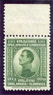 YUGOSLAVIA 1923 King Alexander Definitive 20 D. MNH / **.  Michel 172 - 1919-1929 Kingdom Of Serbs, Croats And Slovenes