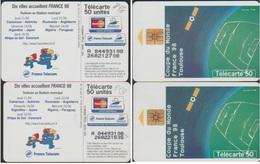 F858 PAIRE MEME N° A 84493108  EN JD Et JG AFFICHE TOULOUSE FOOT 98 - Phonecards