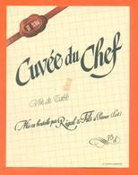 étiquette Ancienne Vin De Table Cuvée Du Chef Rigal Et Fils à Parnac - 11 °/° - 75 Cl - Red Wines