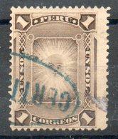 PERU' 1886/95 - Dio Sole Degli Incas.  1S.  Usato - Scott. 115-A23 - Peru