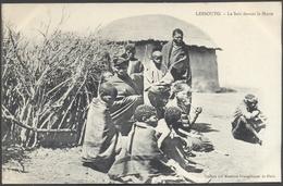 Lessouto - Le Soir Devant La Hutte - Edit. Missions Evangéliques De Paris - Voir 2 Scans - Lesotho