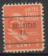USA Precancel Vorausentwertung Preo, Locals Pennsylvania, Hallstead 704 - Vereinigte Staaten
