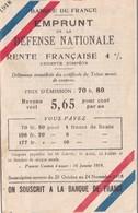 BANQUE De  FRANCE ,,,, EMPRUNT De La   DEFENSE  NATIONALE  ,,,, RENTE FRANCAISE 4% ,,,,1918 - Shareholdings