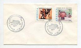 EL SALVADOR 1989 FDC COVER UPAE AMERICA PRE-COLUMBUS Mi#1770-71 - El Salvador