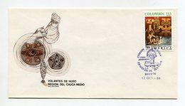 COLOMBIA 1989 FDC COVER UPAE AMERICA PRE-COLUMBUS Mi#1775 - Colombia