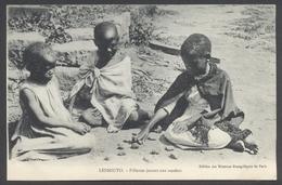 Lessouto - Fillettes Jouant Aux Osselets - Edit. Missions Évangéliques De Paris - Voir 2 Scans - Lesotho
