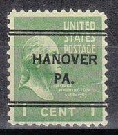 USA Precancel Vorausentwertung Preo, Locals Pennsylvania, Hanover 243 - Vereinigte Staaten