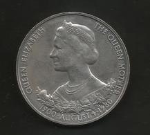 GUERNSEY - 25 PENCE - Queen Mother 80th Birthday ( 1900 - 1980 ) / Queen Elizabeth II - Guernesey