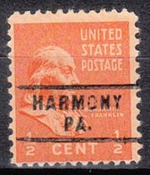 USA Precancel Vorausentwertung Preo, Locals Pennsylvania, Harmony 743 - Vereinigte Staaten