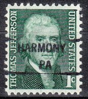 USA Precancel Vorausentwertung Preo, Locals Pennsylvania, Harmony 841 - Vereinigte Staaten