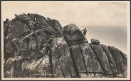 Logan Rock, Treen, Cornwall, C.1930 - Harvey Barton RP Postcard - England