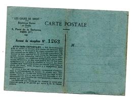 Sorbonne 1941  Inscription Fiscal 1fr20 - Cartes